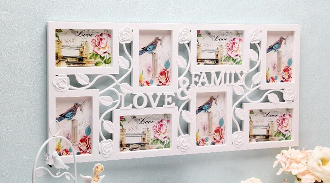 Photo Frame Family Love Large Multi 8 Picture Wall Hanging Collage ...