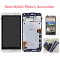 LCD Display Touch Screen Digitizer Glass Assembly With Front Frame For HTC One M7 802D 802D 802W Dual Sim Silver +Tools