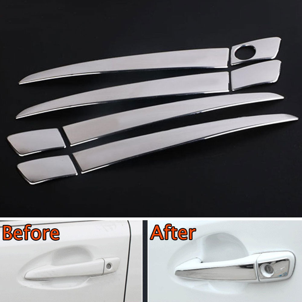 BBQ@FUKA Car Chrome Stainless Out <font><b>Door</b></font> <font><b>Handle</b></font> Cover Trim Styling Sticker Fit For <font><b>Lexus</b></font> CT200h RX270/<font><b>ES250</b></font> GS350/450 IS250/350 image