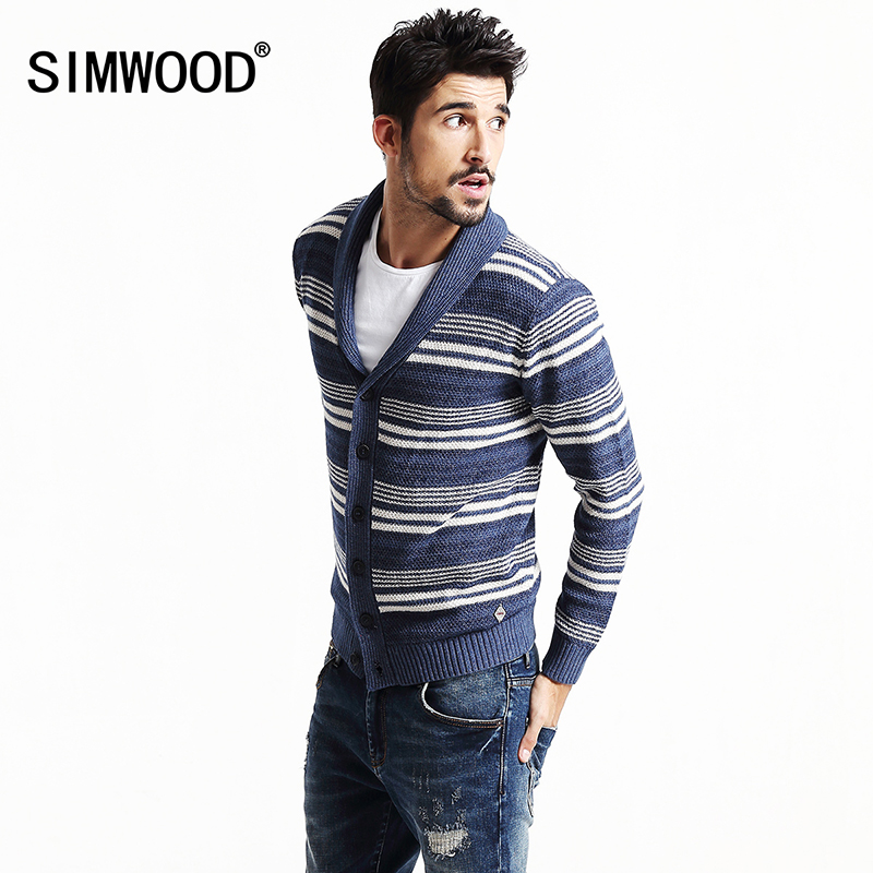 2017 SIMWOOD Brand Clothing New Autumn Winter Cardigan Men Fanshion Casual Sweater Slim fit christmas MY2024