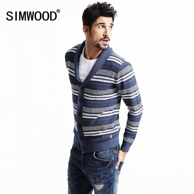 2018 SIMWOOD Brand Clothing New Spring Winter Cardigan
