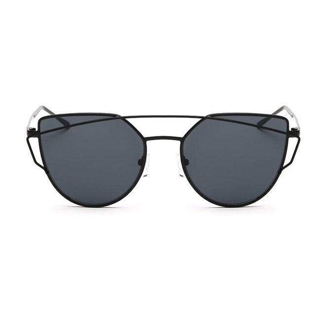 317643c10e8 LOPERT Cat Eye Polarized Sunglasses Women Classic Brand Designer Glasses  Twin-Beams Rose Gold Frame
