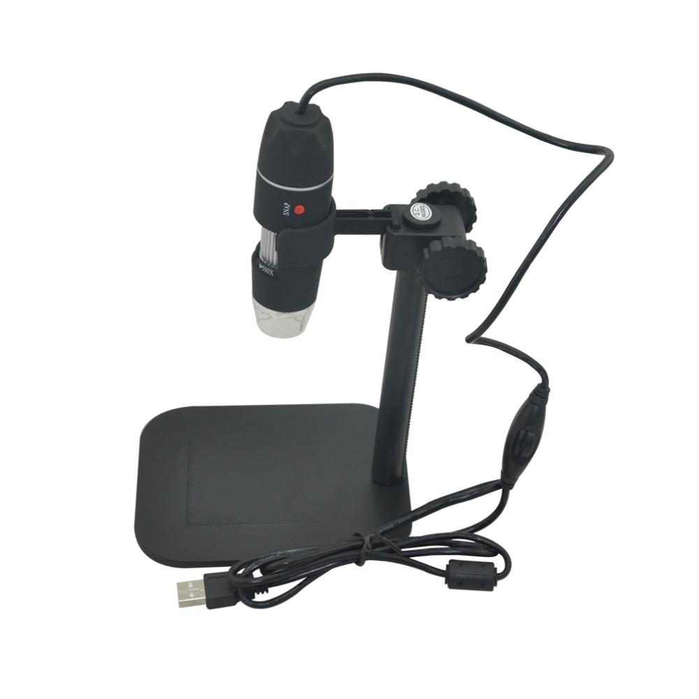 Electrónica práctica 5MP USB 8 LED cámara Digital microscopio endoscopio lupa 50X ~ 500X medida ampliación