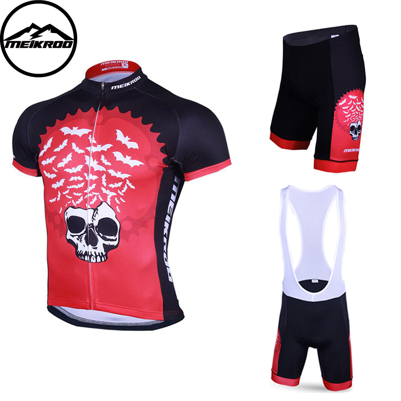 Meikroo BatKing Breathable Cycling Jersey Summer MTB Bicycle Clothing Ropa Ciclista Mountain Bike Clothes Maillot Ciclismo siilenyond farfax summer cycling clothing mountain bike jersey ropa ciclista hombre maillot ciclismo racing bicycle clothes set