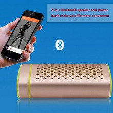 Outdoor Sport Speaker Portable Wireless Bluetooth Strong Bass Speaker 4400mAh Audio Power Bank Battery with Mic Car Speakers