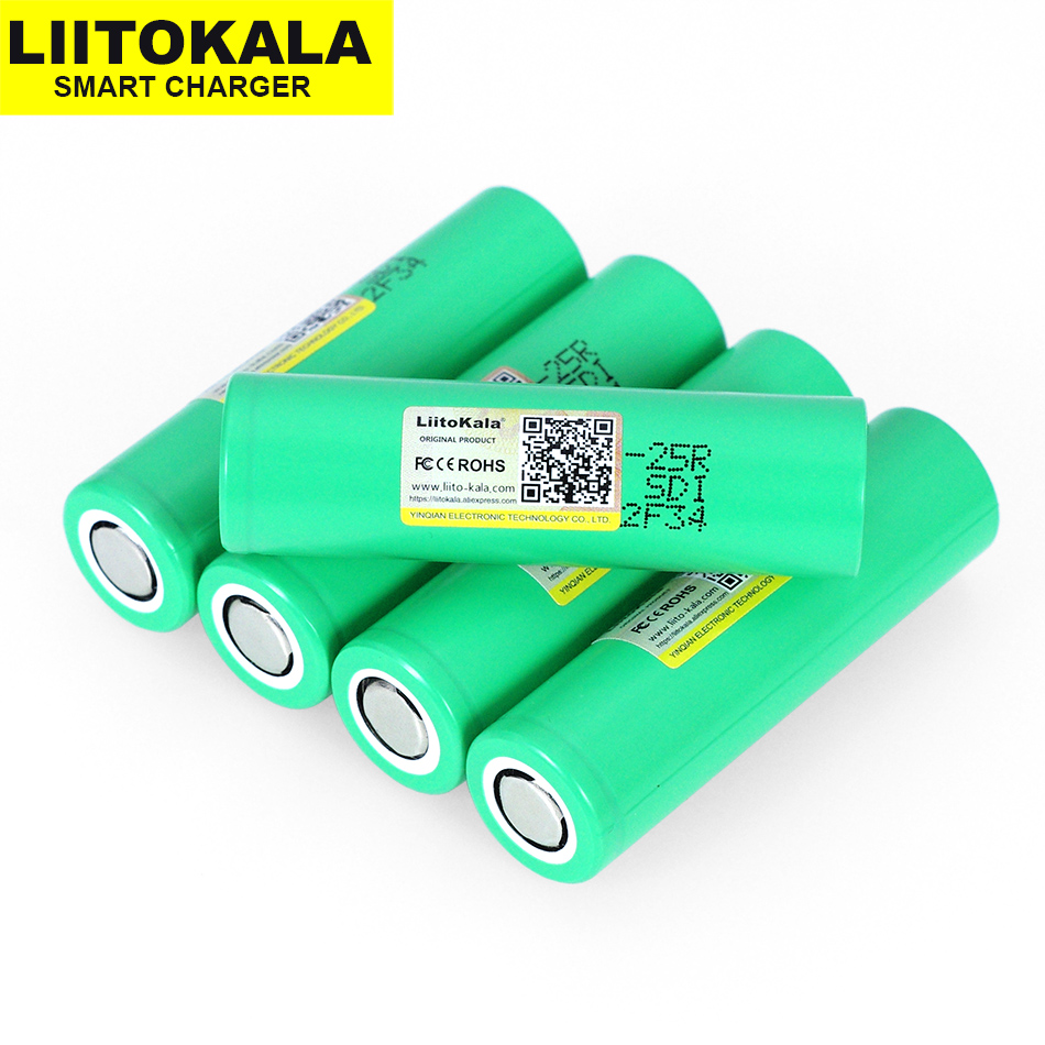 1-20PCS <font><b>Liitokala</b></font> <font><b>18650</b></font> 2500mah INR1865025R 20A discharge lithium batteries electronic cigarette battery <font><b>18650</b></font> <font><b>25R</b></font> for 2019 image