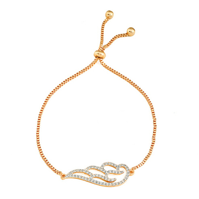 2019 New Fashion Wing Charm Bracelet For Women Bracelet & Bangle Adjustable Pulseras Mujer Micro Pave CZ Jewelry Gift