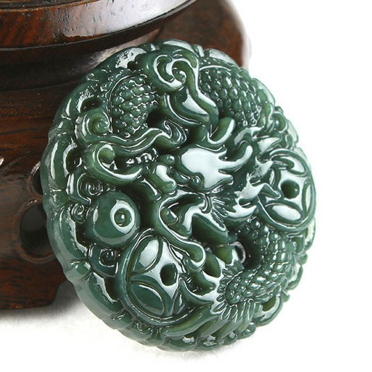 Fine Jewelry Charms Natural The Seal Of Chinas Dragon Pixiu Seal Carving Dan Dongyu Pendant Free Shipping