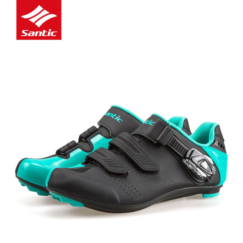 santic white bicycle racing sports cycling shoes breathable athletic mtb road bike auto lock shoes ciclismo zapatillas SANTIC Cycling Mtb Shoes couple carbon fiber auto-lock sneakers off road bicycle shoes Athletic Racing Team sports Gym shoes