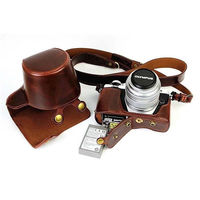 PU Leather Camera Case For Fujifilm XT20 XT10 Finepix X T10 X T20 Camera Bag Cover With Battery Opening + strap