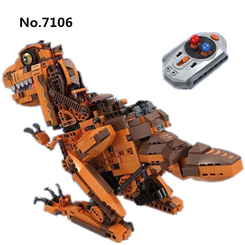 Winner 7106 1092 pièces bricolage blocs de construction technique RC télécommande dinosaure créateurs modèle Expert jouets pour enfants enfants cadeau