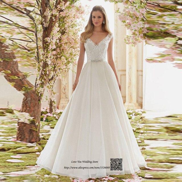 Fruhling Boho Hochzeitskleid 2017 Spitze Vintage Brautkleider Perlen