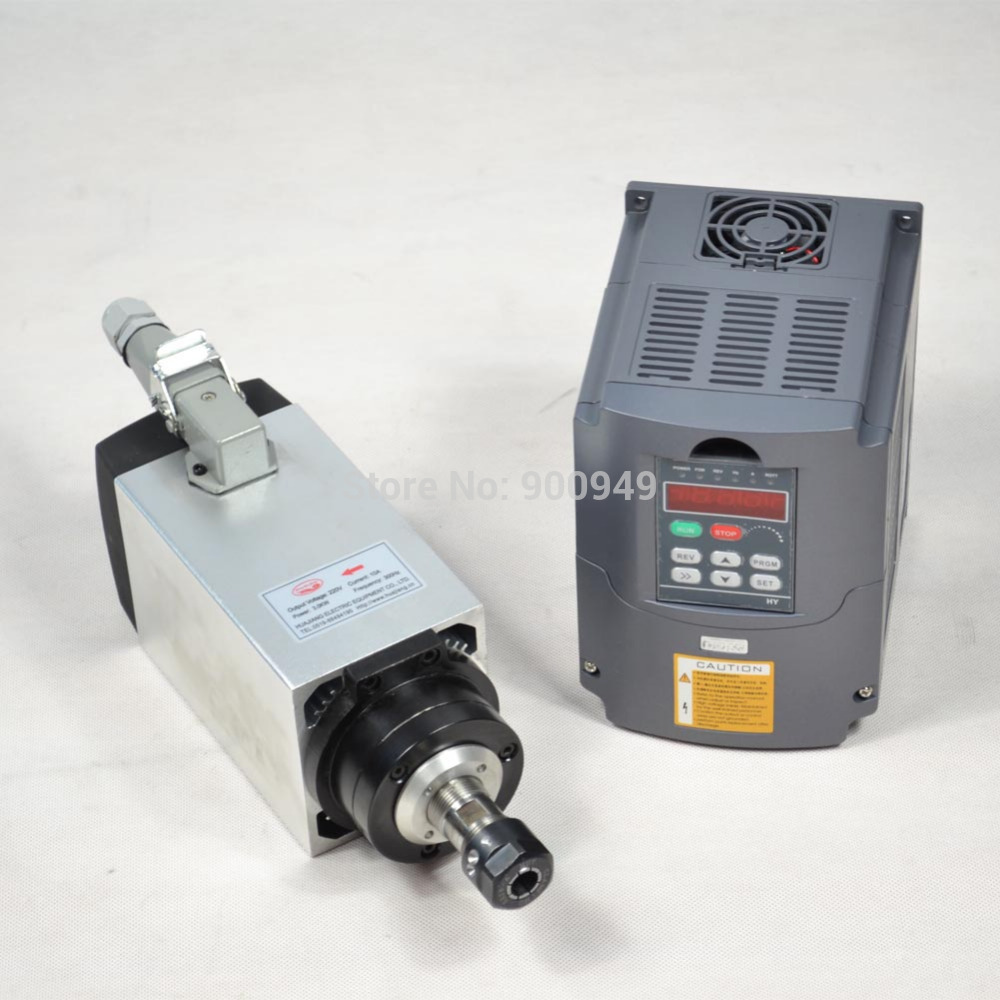 New arrival 3kw air cooled er20 spindle motor and matching for Variable speed drive motor