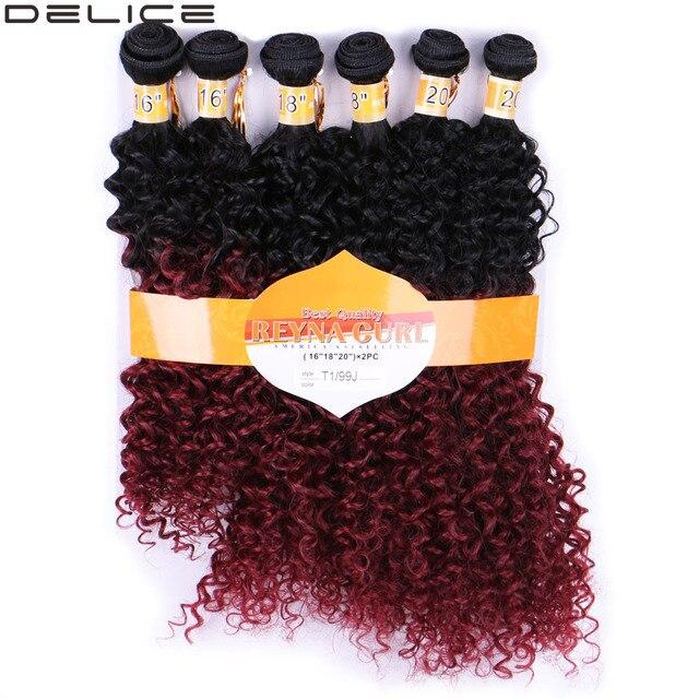 Aliexpress Buy Delice 6 Bundlespack Women Ombre Hair Weaving