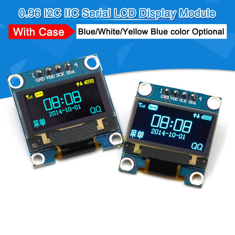 "128X64 für Arduino 0.96/"" I2C OLED LCD Display Blau I2C Mikrokontroller"