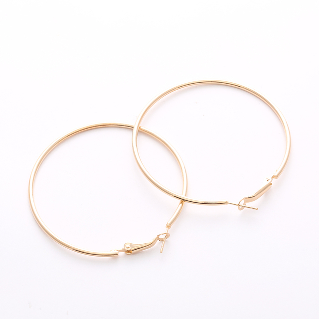 Big Gold Hoop Earrings Basketball Brincos Round Silver Large Circle Party Earrings For Women
