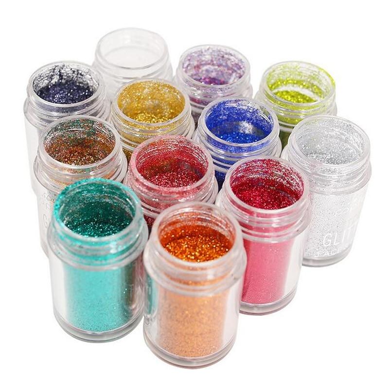 New Arrival 1Pcs 12 Colors Square NailBodyEye Glitter Powder Paillettes Shining DIY Nail Art Dancingnail Shining Body Glitter