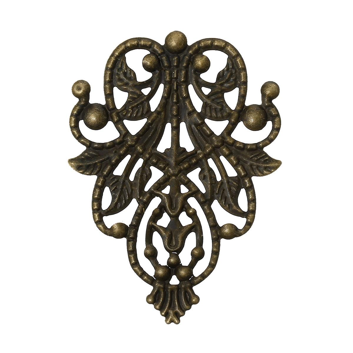 DoreenBeads Alloy Embellishments Findings Flower Vine Antique Bronze 4.8cm(1 7/8