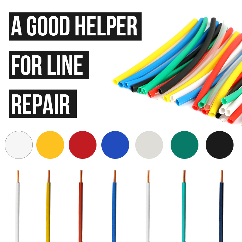 Home Improvement ... Elect. Equipment & Supplies ... 1934974702 ... 2 ... 140pcs Car Electrical Cable Tube kits Heat Shrink Tube Tubing Wrap Sleeve Assorted 7color Mixed Color Tubing Sleeving Wrap Wire ...
