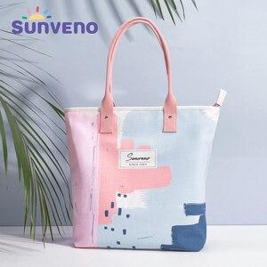 Image 5 - Sunveno Fashion Maternity Hospital Bag Prenatal Examination Bag before Labour Diaper Bag Nappy Bag