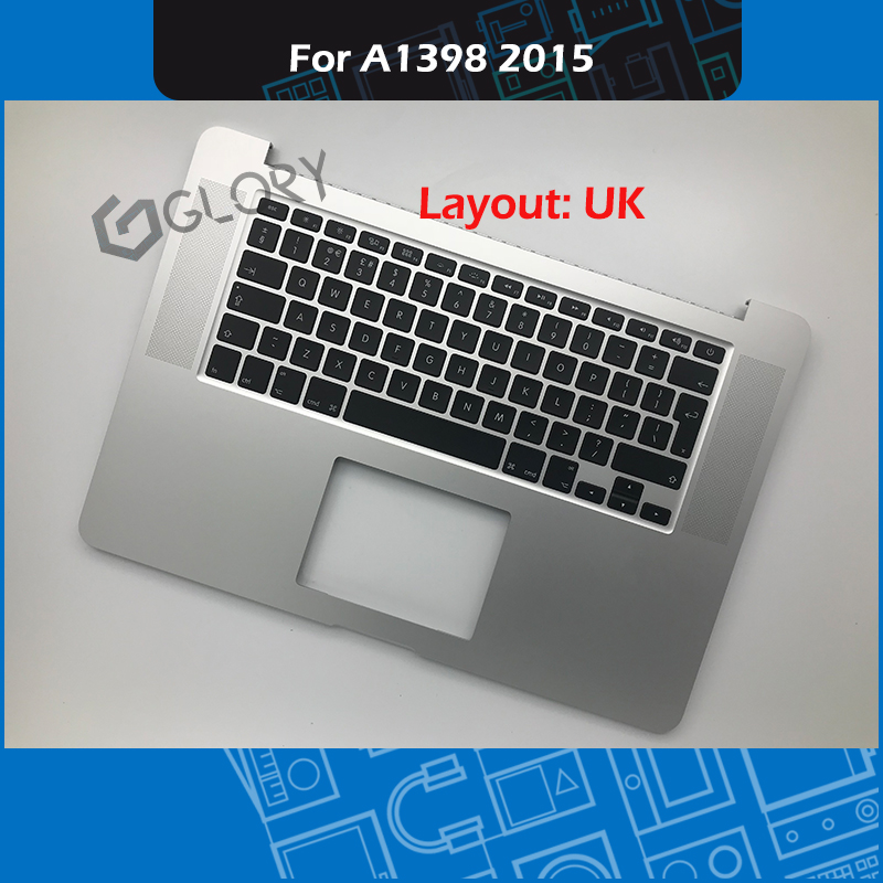 Laptop A1398 Topcase with UK Keyboard For Macbook Pro Retina 15 A1398 Top case Palmrest Replacement