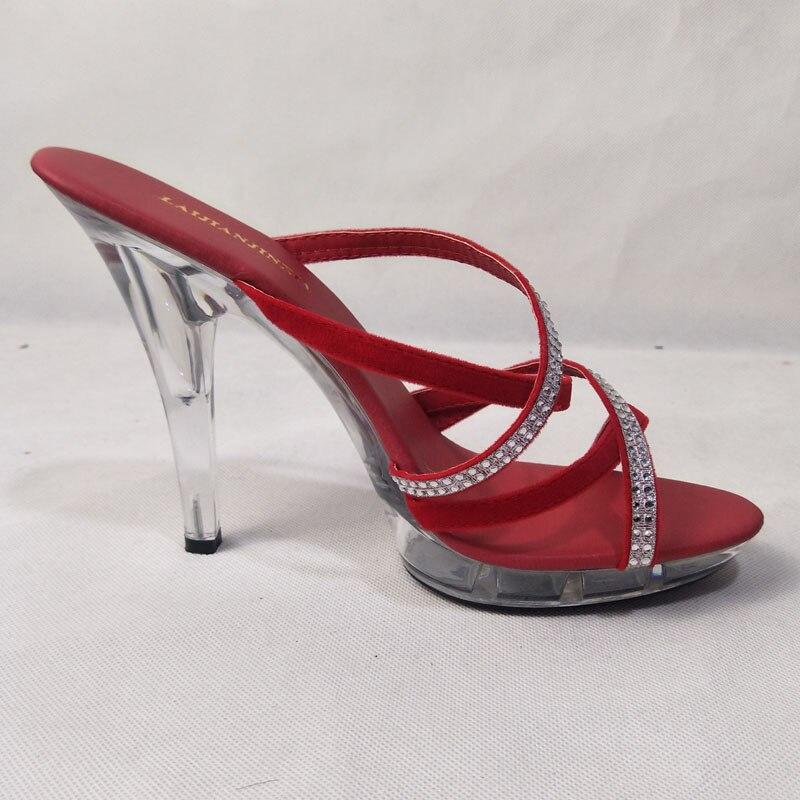 Qualité Talons Noir Cm Haute Femme Sexy 13 Femmes D'été Toe Diapositives forme Peep Laijianjinxia Chaussures Souper Nouvelles Plate rouge Pantoufles xw0qUgAP