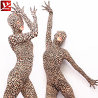 MEISE Sexy Women Photography Leopard Full Body Bodysuit Game Cosplay Body Stockings Sexy Pantyhose With Glove Erotic Lingerie