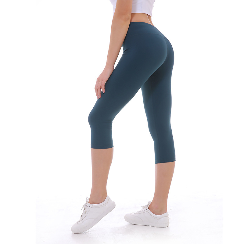 NWT Woman capris top quality Solid Running Capris Tummy Control Pant Sexy Gym Power Flex Yoga Tight us4-us12 14 colors