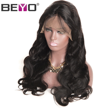 Beyo Malaysian Body Wave Lace Front Human Hair Wigs With Baby Hair Non-remy Hair Natural Color Free Shipping