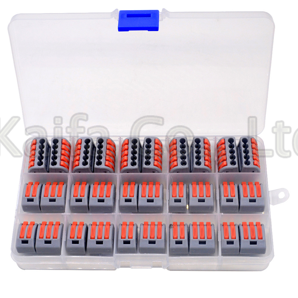 30 Pcs/lot 412W 413W 415W Universal Compact Wire Wiring Connector Conductor Terminal Block With Lever