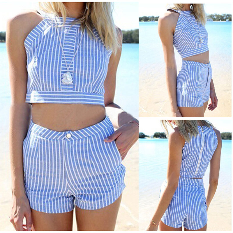 HTB17Mb3QXXXXXbCXFXXq6xXFXXXB - Summer Blue Plaid Striped Suit PTC 146