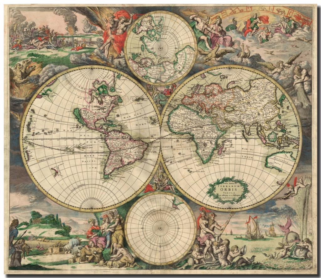 Retro world map globes latitude hd fabric poster teaching indoor your baby family friends nothing photography custom sizes poster you want to do p lx concact now send photo to me directly all formats ok jpg better gumiabroncs Gallery