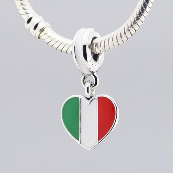 charm pandora bandiera italiana