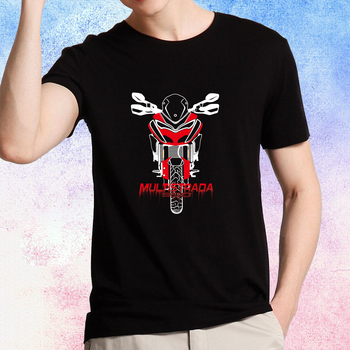 KODASKIN Motorcycle Style 100% Cotton for DUCATI MULTISTRADA 950 Casual Short Sleeve O-Neck T Shirt