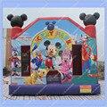Микки Маус Надувные Прыжки Замок, коммерческие Надувные Надувной Замок для Детей, микки Отказов Дом, Надувные Вышибала