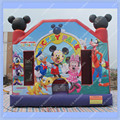Mickey Mouse Castillo Inflable Inflable, comercial Inflable Castillo Hinchable para Los Niños, Mickey casa de Brinco Inflables, Gorila Inflable