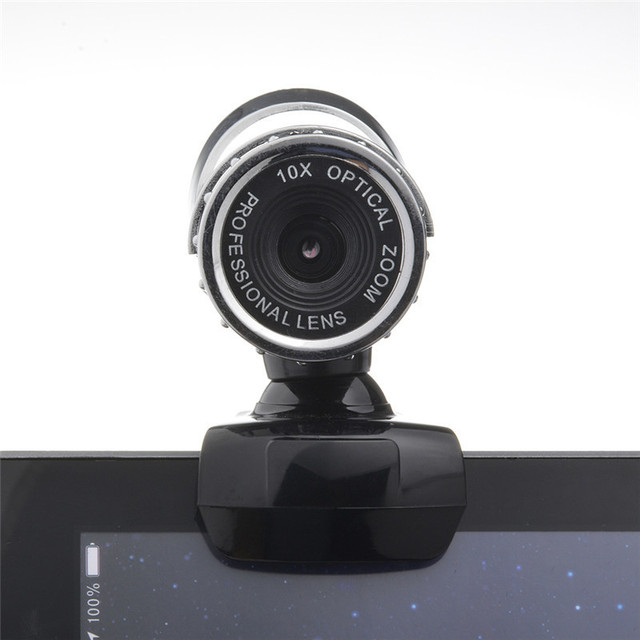 A859 2 Meg HD Webcamera 30 Degree Rotating Webcam USB 2.0 Web Cam With Mic  Microphone