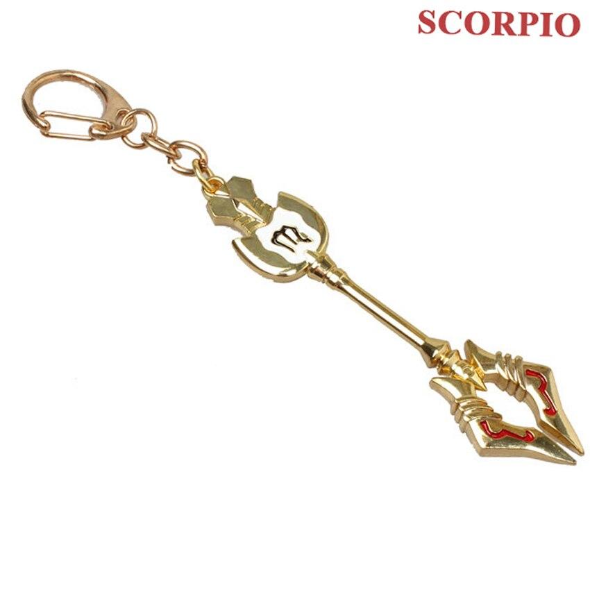 Модный Сказочный хвост, Зодиак, звезда, дух волшебника, Lucy, вызовет ключ, 12 ключей, брелок для ключей «Созвездие», косплей, подарок - Цвет: Scorpio