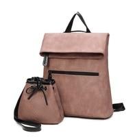 ZHIERNA 2017 Hot Sale Famous Brand School Bags For TeenagersWomen Backpack PU Leather Backpack Women Black