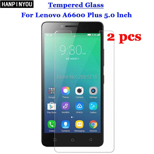 2 Pcs Lot For Lenovo A6600 Plus Tempered Glass 9H 25D Premium Screen Protector