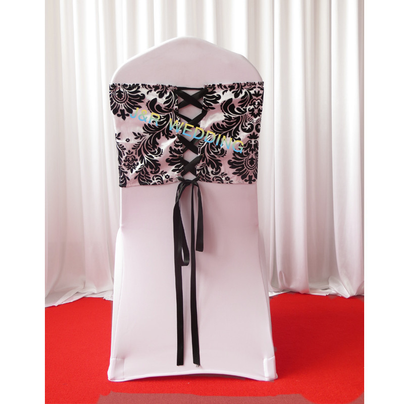 Stupendous Us 77 5 20Pcs A Lot White Black Flocking Taffeta Chair Cover Sash Also Call Elegance Damask Corset Chair Sash In Sashes From Home Garden On Download Free Architecture Designs Rallybritishbridgeorg