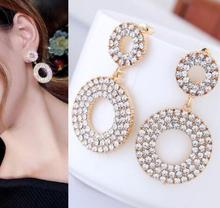 2019 Pendientes Earings Earing Brincos Oorbellen Tassel Earrings Circle Personality Joker Long Eardrop Big Female Temperament