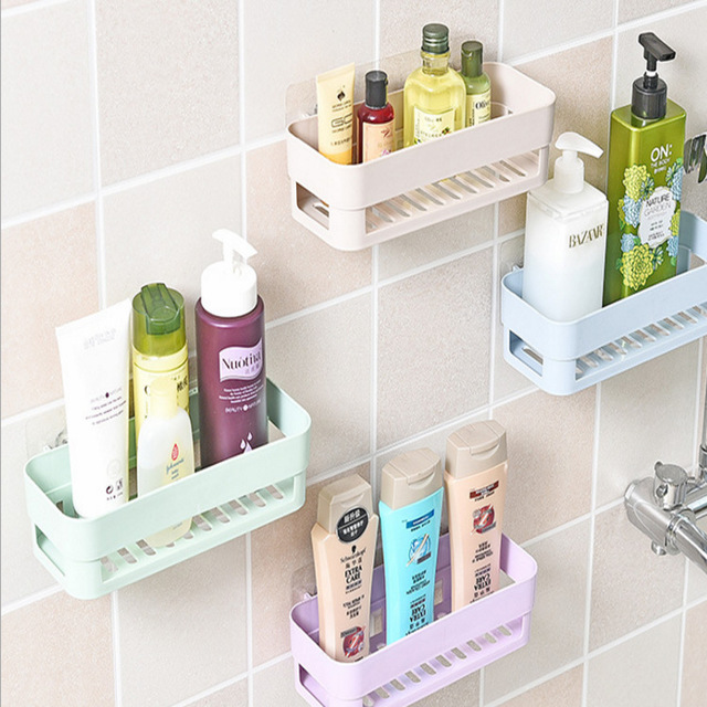 Multifunctional Racket Holder Storage Box Bathroom Makeup Accessories Products Sets Suction Hooks Kitchen