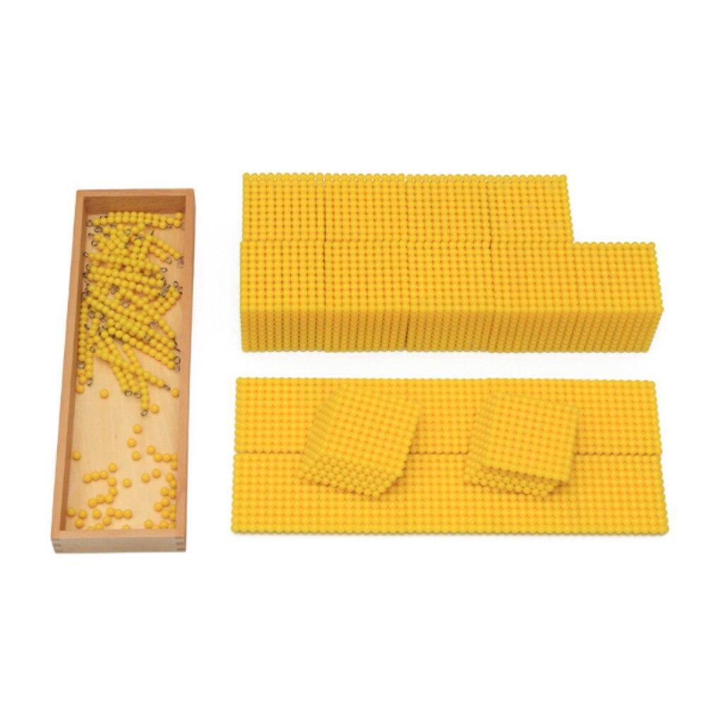 Enjoybay boîte en bois décimale Montessori jeu nombre comptage décimal enseignement jouet début d'apprentissage éducatif mathématiques jouet pour les enfants - 3