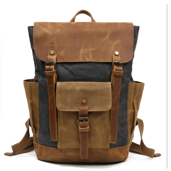 2018 New Fashion Casual Canvas Men Backpack Retro Vintage Male Students School Bags Man Shoulder Bags Mochila Masculina khaki цена