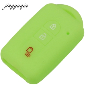 Image 5 - Jingyuqin chave do carro silicone fob caso capa pele proteger para nissan duke micra qashqai juke x trail navara remoto keyless
