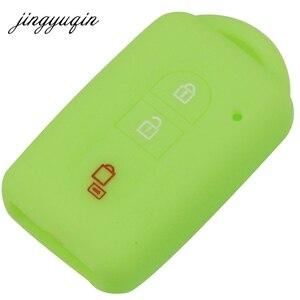 Image 5 - jingyuqin Car Key Silicone FOB Case Cover Skin Protect For Nissan Duke MICRA QASHQAI JUKE X Trail NAVARA Remote keyless