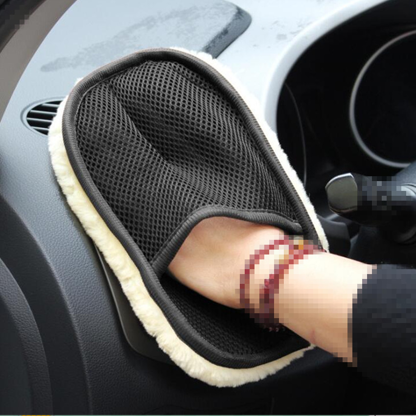 NEW HOT Car Brush Cleaner Wool Soft Car Washing Gloves for Mercedes W203 W204 W205 W211 Benz Cadillac ATS SRX CTS For Lexus RX