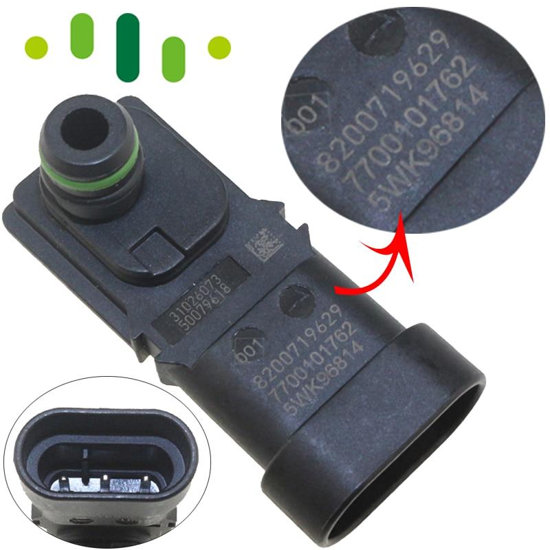 MAP BOOST PRESSURE SENSOR For RENAULT KANGOO CLIO ESPACE LAGUNA MASTER SCENIC TWINGO TRAFIC 8200719629 5WK96814 7700101762-in Pressure Sensor from Automobiles & Motorcycles