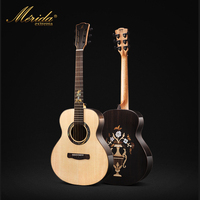 Merida Solid Koa Wood Guitar Rosewood Fingerboard Guitarra Acustica Cutaway